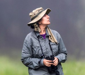 Ravinder Kaur looking for hornbills