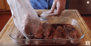 remove ribs from sous vide bag