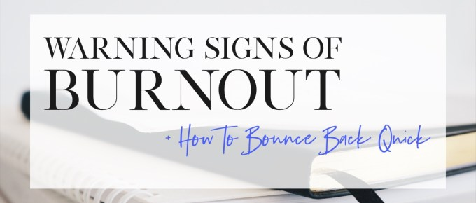 Learn the warning signs of burnout so you can focus on how to destress & claim your life back quick! Get 10 Fail-Proof Ways to Eliminate Burnout now. #burnoutrecovery #burnoutsymptoms #stressrelief #stressmanagment #stresssymptoms