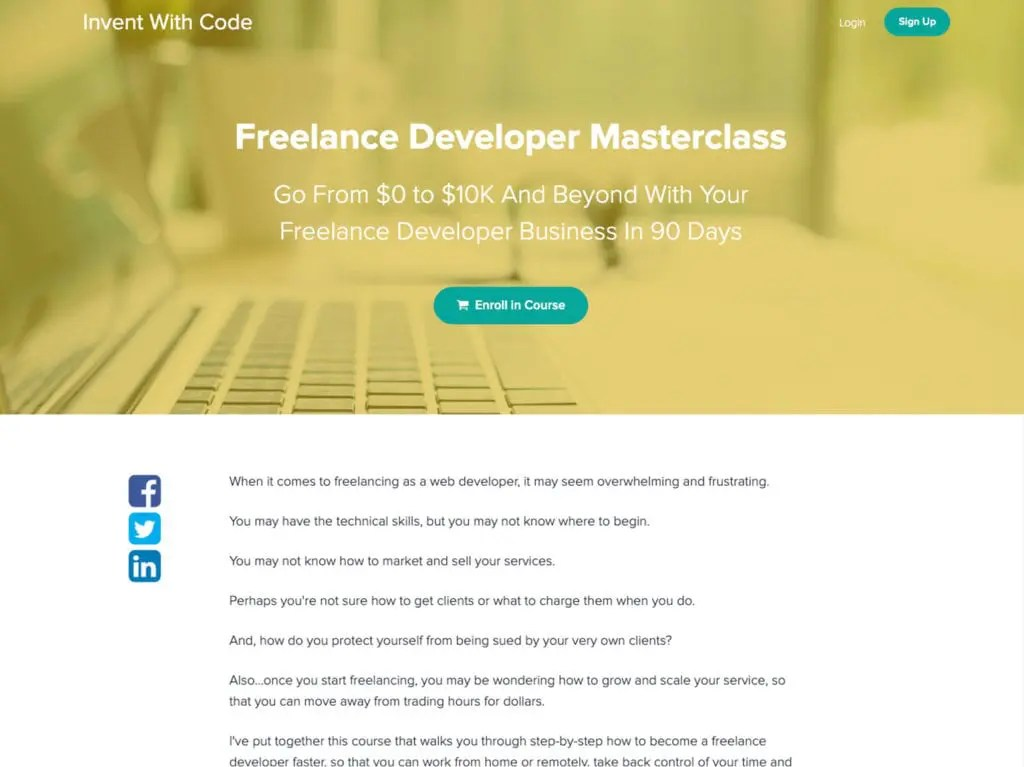 freelance developer masterclass