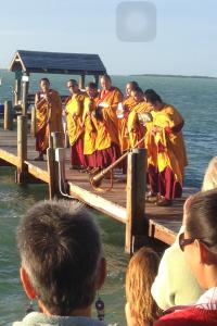 The Mandala sand dispersal ceremony, Key Largo 2016