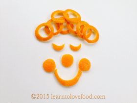 orange peel clown food art