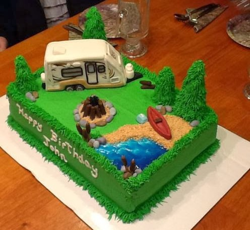 Camping Themed Birthday Cake Roo 233s Learn To Rv
