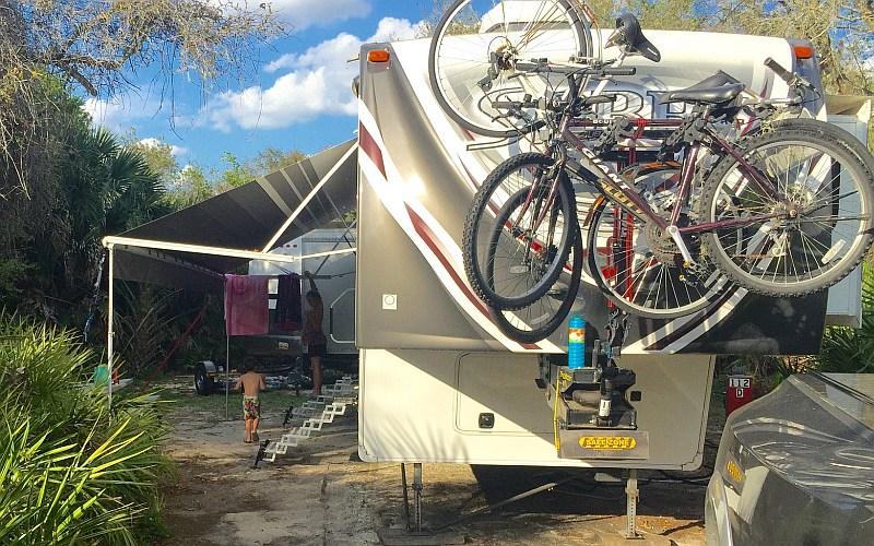 diy fifth wheel pin box bike rack