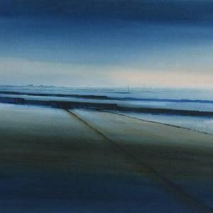 watercolour painting of Heacham North Beach