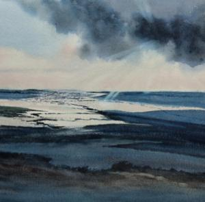 Painting of Burnham Overy Staithe