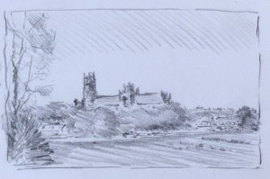 planning sketch of Ely Cathedral