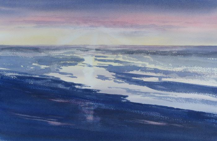 Sunset across the Wash, Norfolk