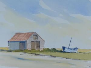 painting of thornham coal barn