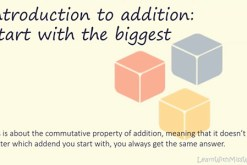 Introduction to addition: Start with the biggest