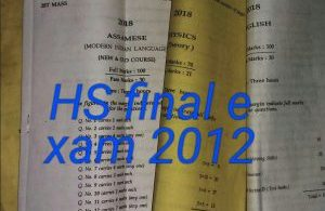 HS final exam question paper 2012