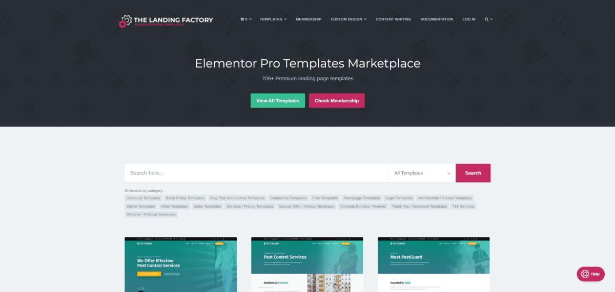 elementor templates free download