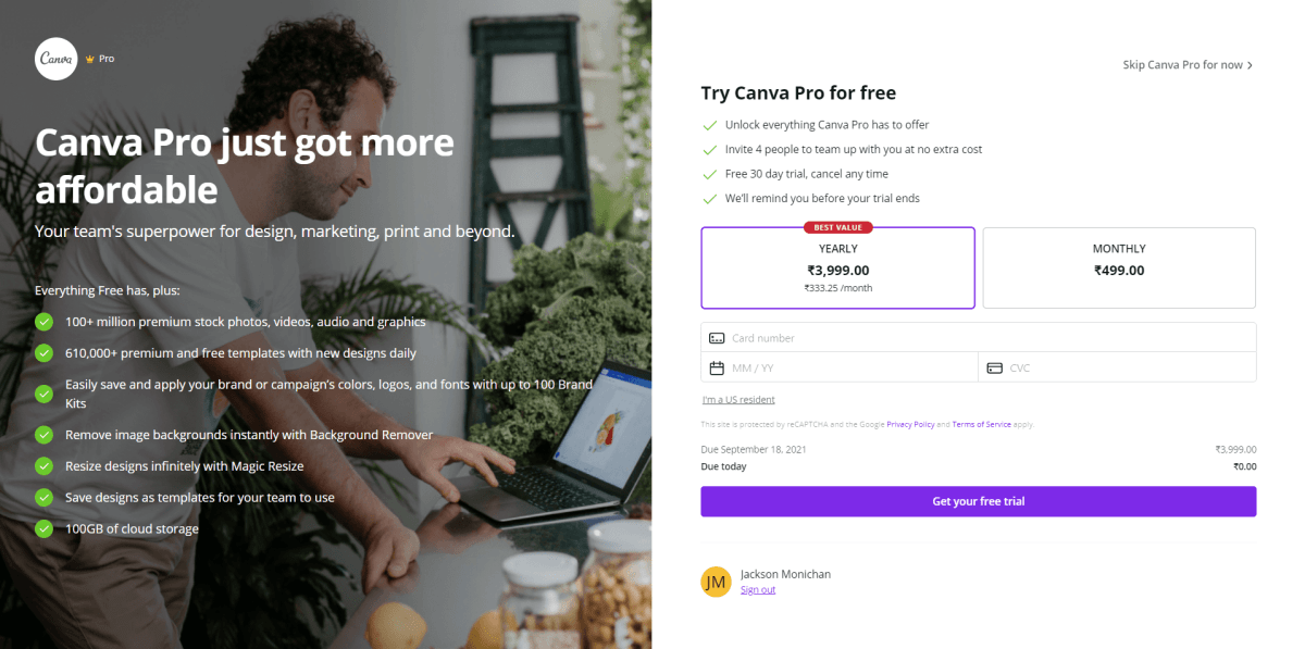 canva pro account pricing, canva pro for free