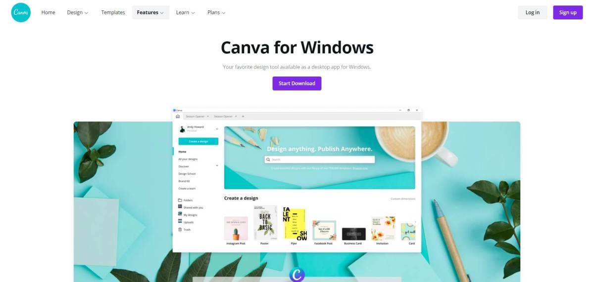 canva app for pc, canva app for windows