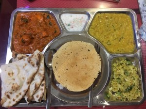 My set dinner. Southern Indian food.