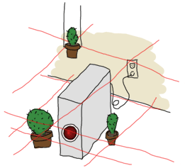 A server (HAL) protected by cacti and lasers