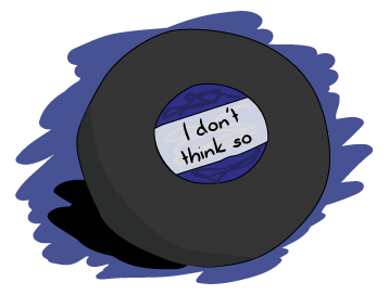 A magic 8-ball showing 'I don't think so'