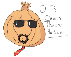 A cool onion (it has sunglasses and a goatee)