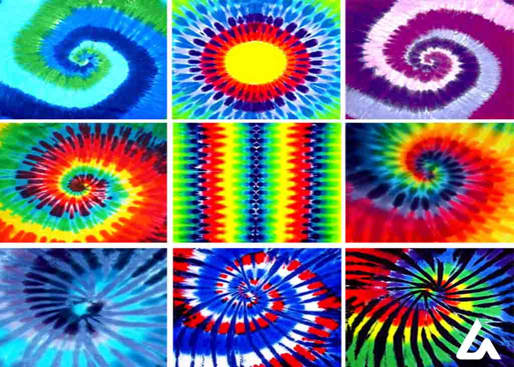 Tie-Dye - Types of Tie and Dyeing patterns by Leartex