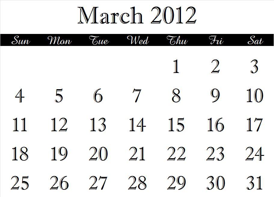 ~ 2012 Calendar Months (3/6)