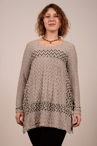 Habitat Wave Knit Seamed Tunic with long sleeves