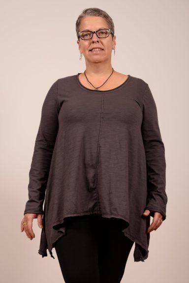 Neon Buddha's Grace Long Sleeve Tee, an symmetrical, hi-low long sleeve classic tee