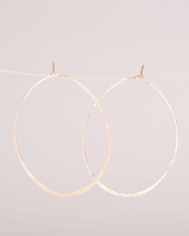 """2"""" Sterling Silver Hoop Earrings"""