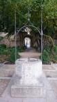 Brunnen in einem Park in Salamanca