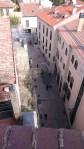 Ausblick nach unten vom Turm des Satans in Salamanca