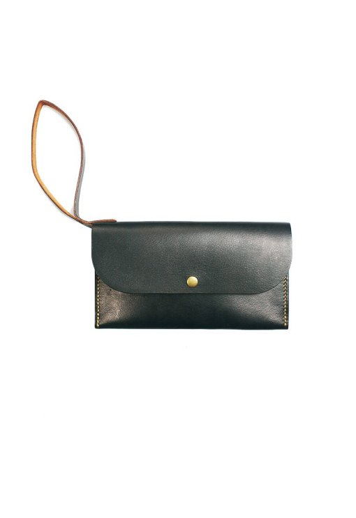 Leather.PH Slim Clutch - Black