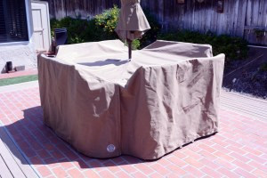Customized design of outdoor table cover