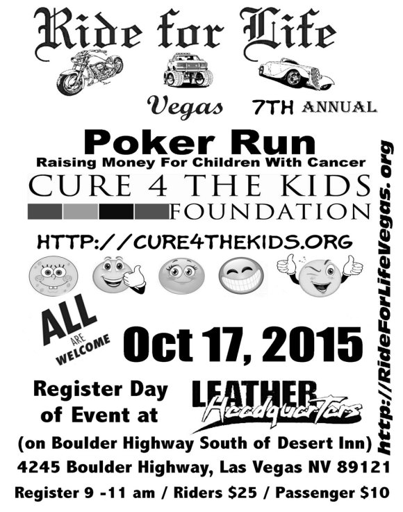 Cure 4 The Kids Poker Run on Oct. 17