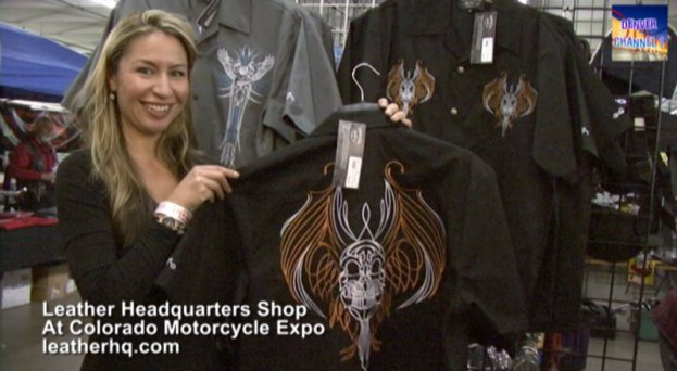 Leather Headquarters Booth at Colorado Motorcycle Expo