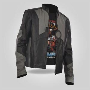 Grey - Men's Classic Leather Jacket