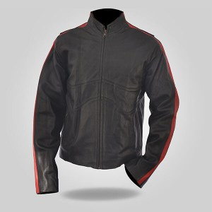 Black in Red Men's Classic Leather Jacket