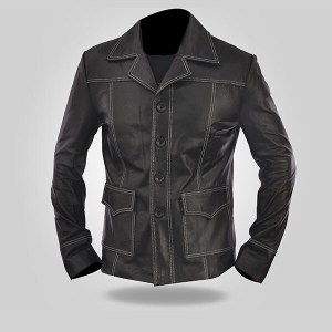 Coal Black - Men's Leather Coat
