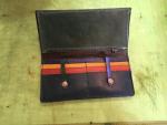 長財布のカラフルカードポケット