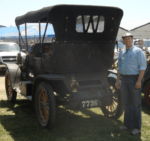 """Thanks, the plate looks great on our original 1909 White Model O Steamer. Now we'll have to plan on some more plates, my son's '14 Model T will certainly need one. Sorry 'bout the dirty car.........we just finished running the 2011 Bakersfield Tour yesterday."" -- Ryan Thurber"