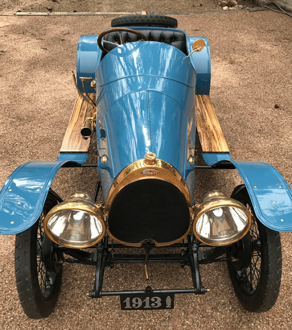 1913 Bugatti Type 22. Early model Bugatti owned by Alan and Mary Travis of Phoenix, AZ.