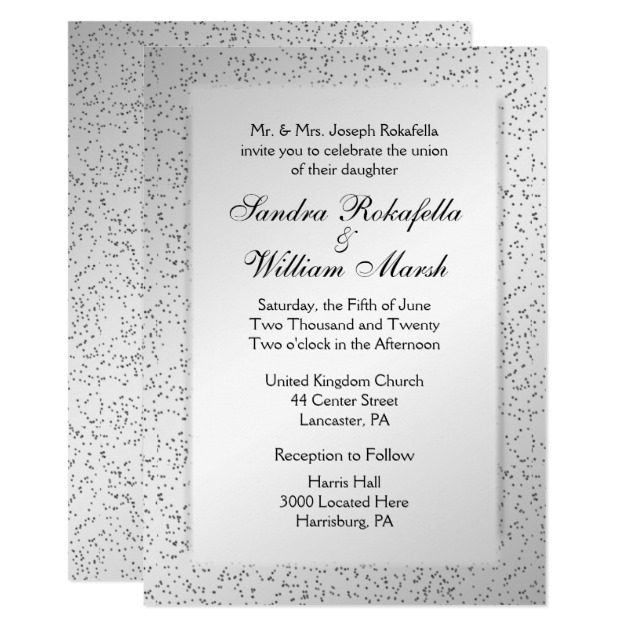 Silver Glitter Wedding Invitation Zazzle New Ideas Items