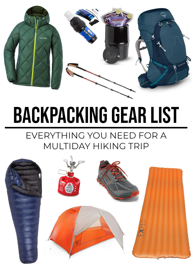 Backpacking Gear List What To Take For Overnight Backpacking Leave No Tracy