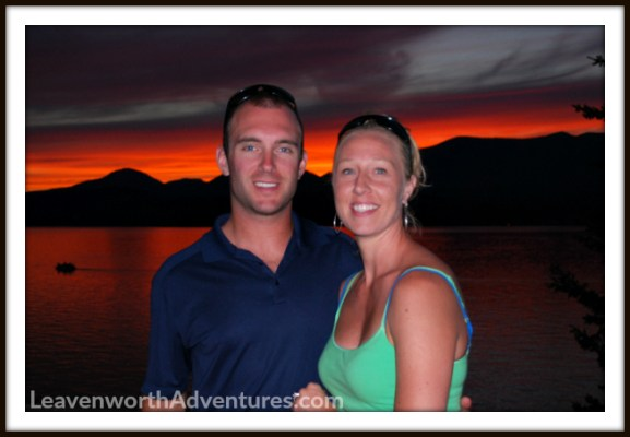 Sunset at Lake Pend Oreille in Idaho. Follow our adventures at LeavenworthAdventures.com
