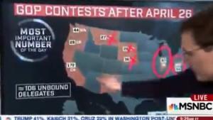 MSNBC's Steve Kornacki gives outlook on Trump's path (X -- for Cruz -- on Nebraska)