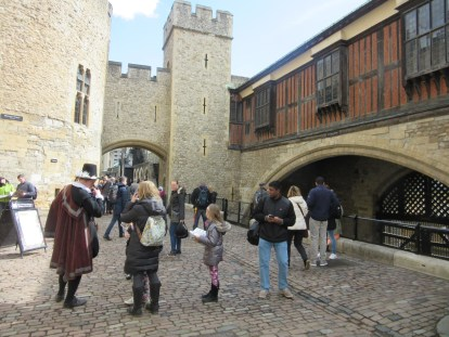 Entering in to the historic world of the Tower of London! (traitor's gate on the right)