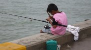 Fishing on the pier