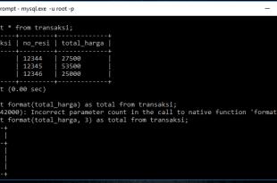Format Ribuan Di MySQL