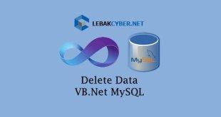 Delete Data Di VB.Net dan Database MySQL