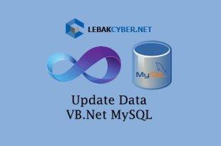 Update Data Di VB.Net Dan MySQL