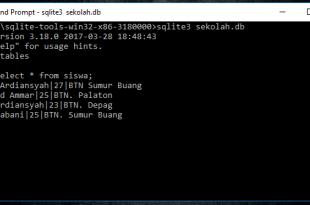 Operator Limit Di Database SQLite