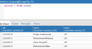 Tutorial Belajar PostgreSQL Update